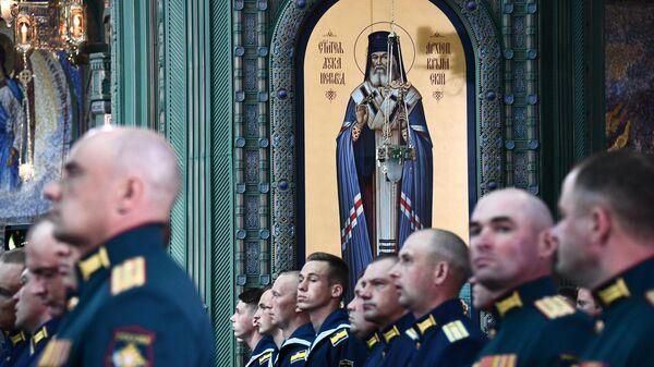 Военнослужащие во время церемонии освящения главного храма Вооруженных сил РФ в парке Патриот в Московской области