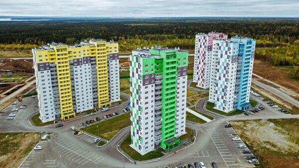 Новые дома в городе Усолье Пермского края