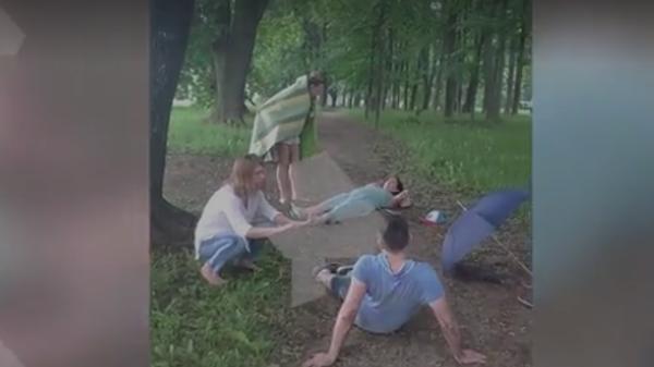 В Москве молния ударила в посетителей парка