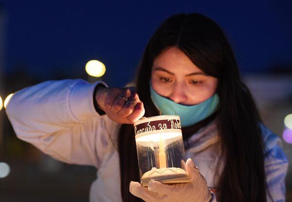 Акция Свеча памяти в парке Победы в Казани
