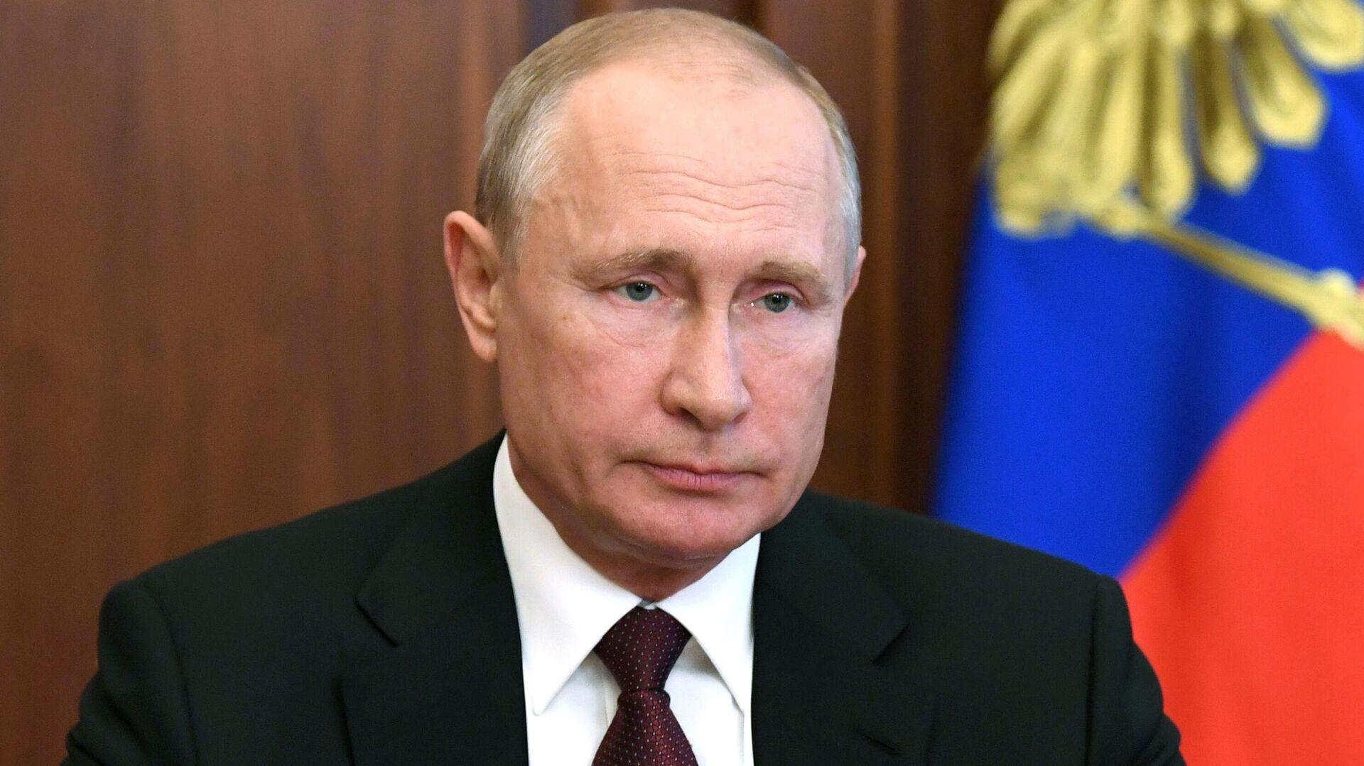 Президент России Владимир Путин во время обращения к гражданам России - РИА Новости, 1920, 25.06.2020