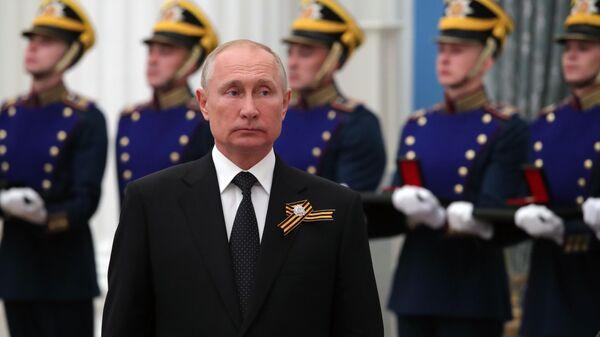 Президент России Владимир Путин на церемонии вручения государственных премий РФ