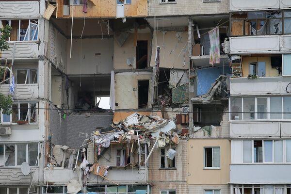 Взрыв газа в жилом доме в Киеве