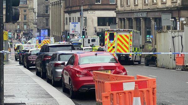 Полиция на месте инцидента в Глазго в Шотландии