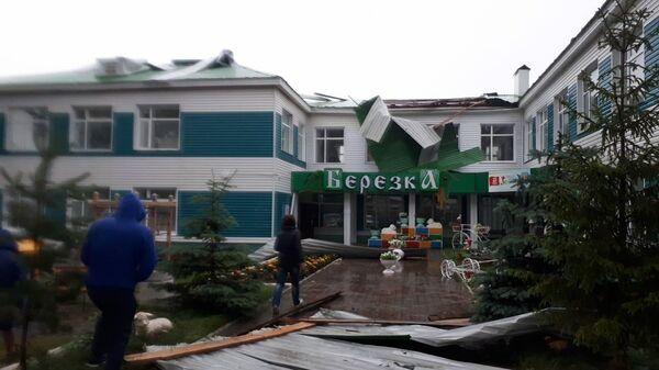 Частичное повреждение кровли детского сада Березка в Татарстане