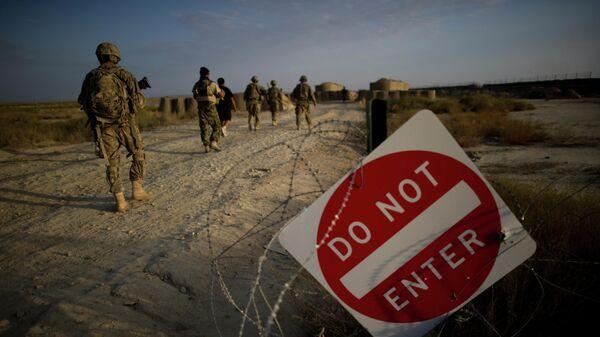 Солдаты армии США в районе оперативной базы Кушамонд в афганской провинции Пактика