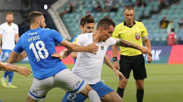 Футболисты Сочи и московского Динамо