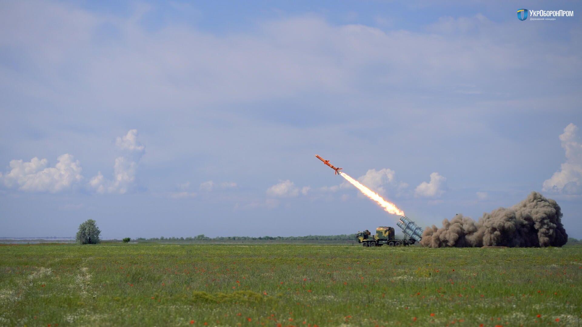 Испытание ракетного комплекса РК-360МЦ Нептун - РИА Новости, 1920, 04.07.2021