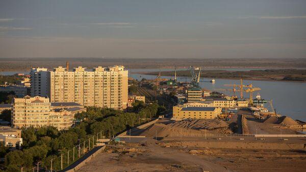 Вид на город Благовещенск в Амурской области