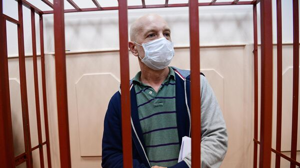 Эмбриолог, андролог ЭКО клиники NGC Тарас Ашитков, обвиняемый по делу о торговле детьми от суррогатных матерей, в Басманном суде Москвы