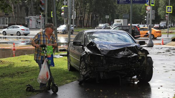 Последствия ДТП на юго-востоке Москвы