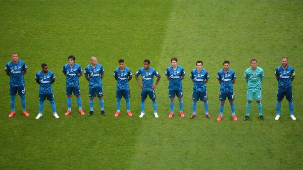 Игроки Зенита перед началом финального матча Кубка России по футболу