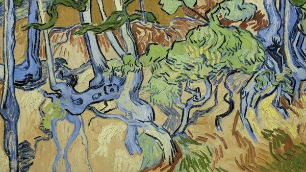 Картина художника Ван Гога Корни деревьев
