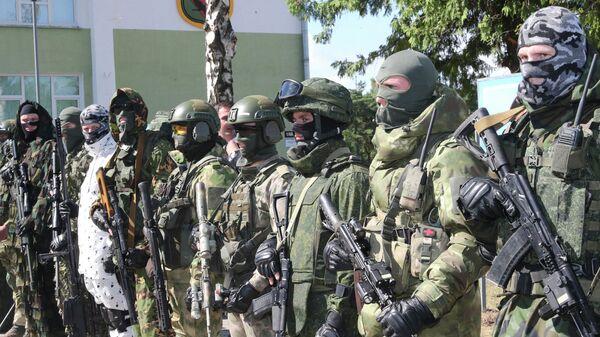 Военнослужащие спецназа белорусской армии