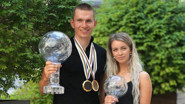 Александр Большунов и Анна Жеребьятева.