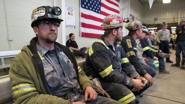 Шахтеры на угольной шахте Харви в Сикаморе, штат Пенсильвания
