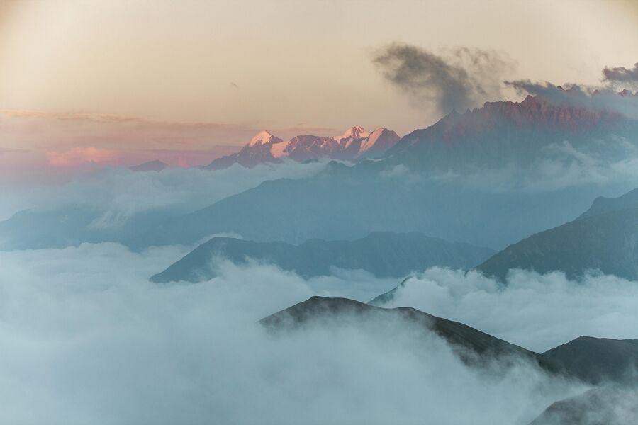 Закат на Цейским ущельем