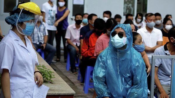 Тест на коронавирус в Ханое, Вьетнам