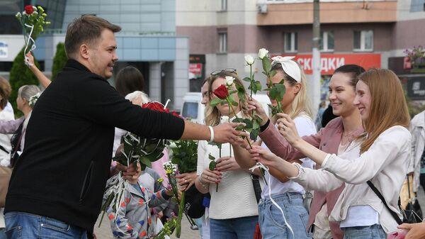 Мирная акция протеста в Минске