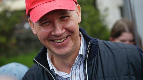 Белорусский государственный деятель, экс-претендент на пост президента Белоруссии Валерий Цепкало в Минске