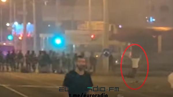 Появилось видео предполагаемого момента гибели протестующего в Минске