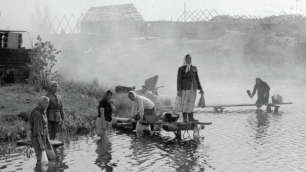 Сцена из кинофильма Пришел солдат с фронта. Режиссер Николай Губенко