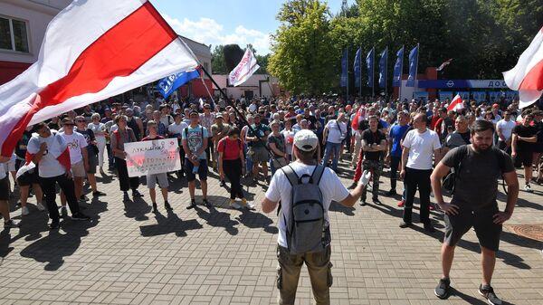 Акция протеста рабочих в Белоруссии