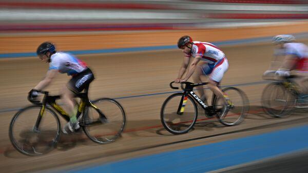 Тренировка сборной России по велоспорту на треке