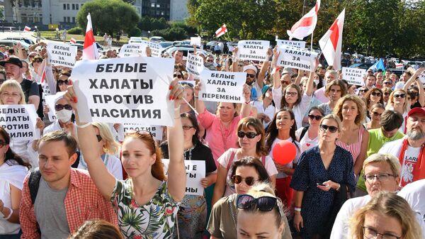 Акция протеста медицинских работников в Минске