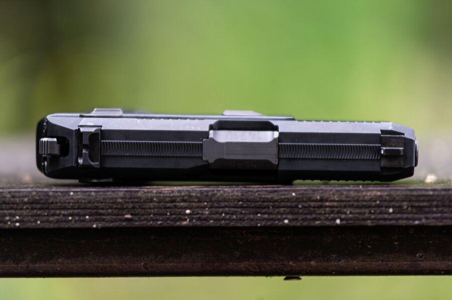 Прицельная планка на кожух-затворе пистолета 'Полоз'