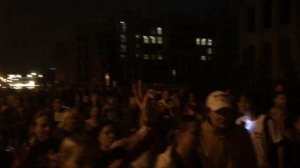 Акция оппозиции на площади Независимости в Минске завершилась