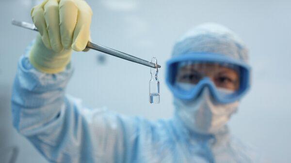 Производство вакцины от COVID-19 на фармацевтическом заводе Биннофарм