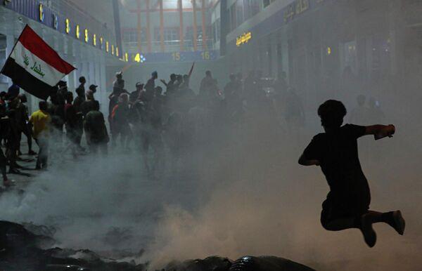 Акция протеста в Басре, Ирак