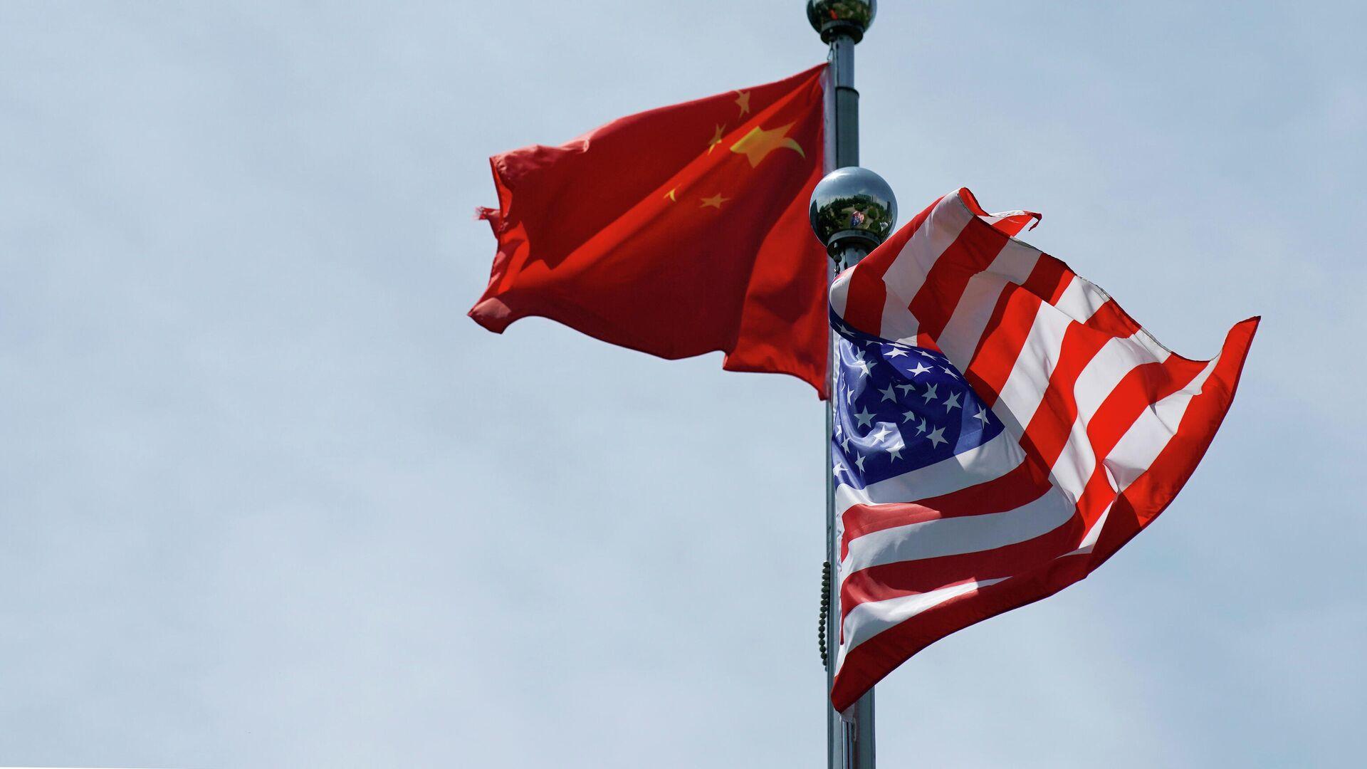 Флаги США и Китая - РИА Новости, 1920, 13.09.2020