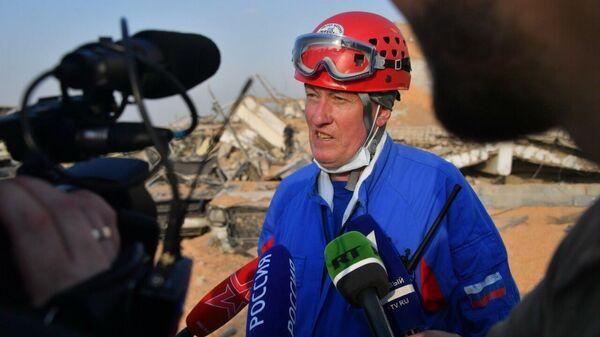 Заместитель начальника Государственного центрального аэромобильного спасательного отряда МЧС России Игорь Акмаев