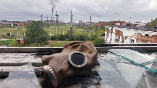 Здания бывшего химического комбината Усольехимпром в Усолье-Сибирском