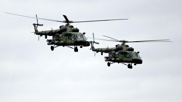 Вертолеты Ми-8МТ ВВС Белоруссии