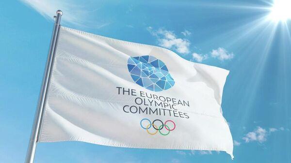 Флаг Европейских олимпийских комитетов (EOC)