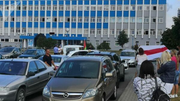 Протестующие возле Гродно Азот