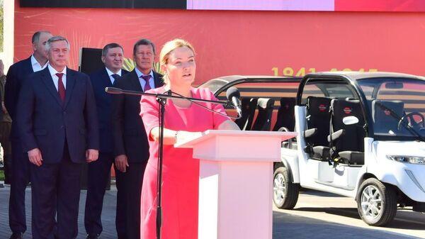 Церемонии открытия музейного комплекса Самбекские высоты в Ростовской области