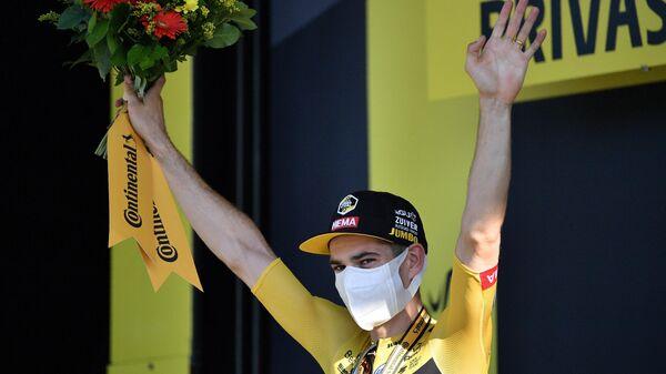 Бельгийский велогонщик команды Jumbo-Visma Вут ван Арт