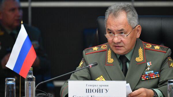 Министр обороны РФ Сергей Шойгу на совместном заседании Министров обороны государств ШОС, СНГ и ОДКБ