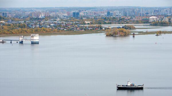 Вид Казани со стороны поселка Верхний Услон