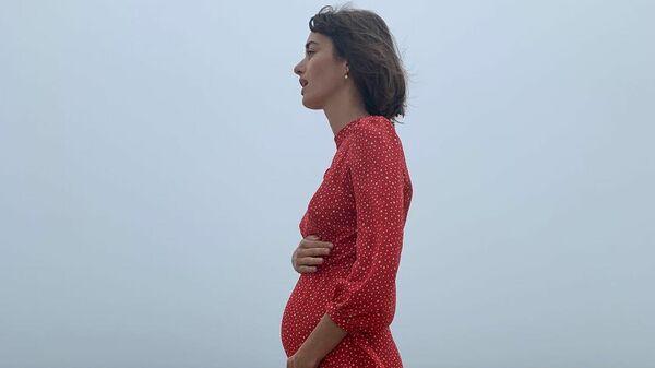 Актриса Ольга Зуева во время беременности