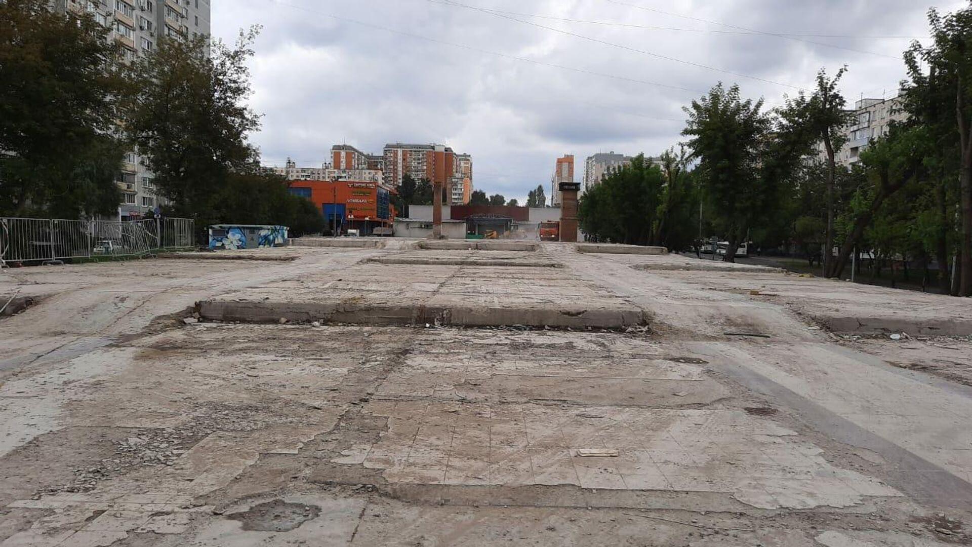 Площадка в Северном Медведкове после демонтажа самостроя - РИА Новости, 1920, 08.09.2020