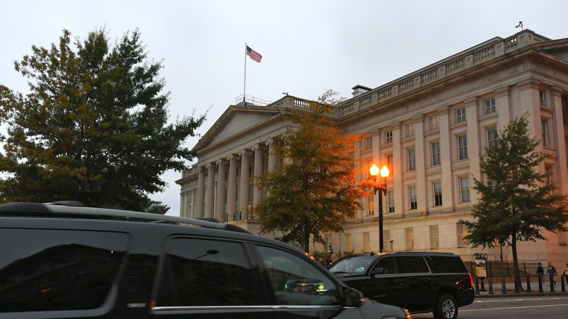 Здание министерства финансов США в Вашингтоне - РИА Новости, 1920, 02.08.2021