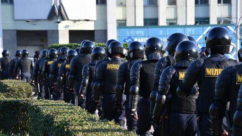 Сотрудники правоохранительных органов в Белоруссии