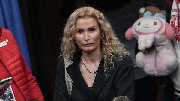 Тренер Этери Тутберидзе и спортсменки Камила Валиева и Анна Щербакова