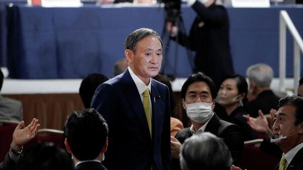 Генеральный секретарь японского правительства Ёсихидэ Суга, избранный лидером правящей в Японии партии