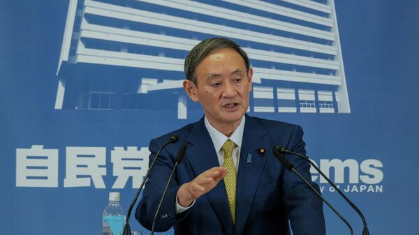 Избранный председателем правящей в Японии Либерально-демократической партии Есихидэ Суга